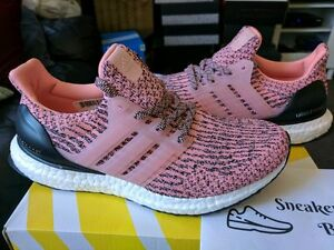 602c0acfa Adidas Ultra Boost W Womens 3.0 Still Breeze Salmon Pink Core Black ...