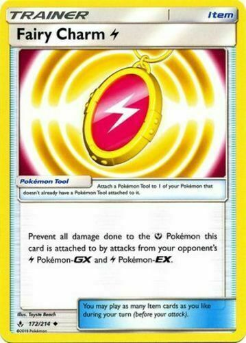 Pokemon 4X TRAINER FAIRY CHARM LIGHTNING 172//214 UNCOMMON  NM CARD