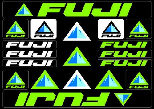Fuji Bicycle Bike Frame Decals Stickers Adhesive Graphic Set Vinyl Green