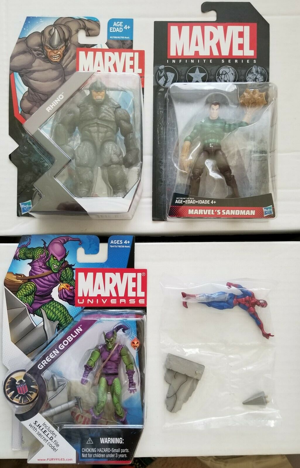 Marvel universo Hombre Araña Rhino Kraven Sandman