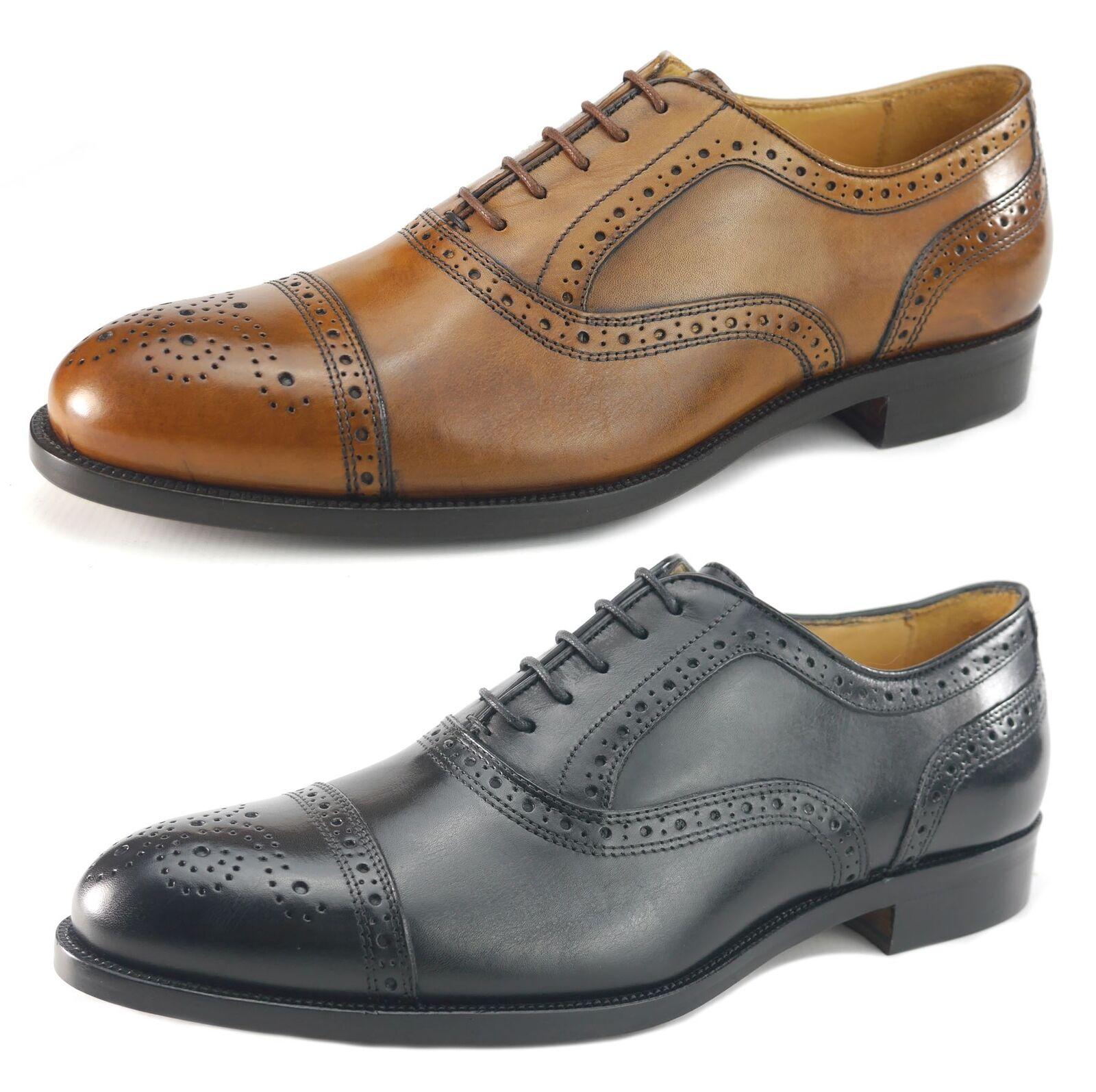 Mercanti Fiorentini homme lacets tout cuir richelieu à oxford tan ou chaussures noires