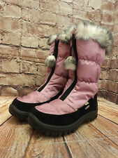 Ladies Grip Lilac Zip Fastening Low Heel Winter Boots Size EU 36
