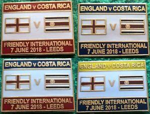 England-v-Costa-Rica-2018-Friendly-International-Leeds-7-June-2018-Pin-Badge