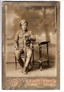 Details about IMPERIAL RUSSIA RUSSIAN SOLDIER with HUGE SWORD ANTIQUE PHOTO  CABINET PORTRAIT