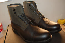 $458 NIB Authentic Men/'s Frye Trench Shearling Combat Military Boots 83705 Bk