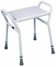 Heavy Duty Shower Seat Chair Stool Adjustable Height Mobility Disability Aid