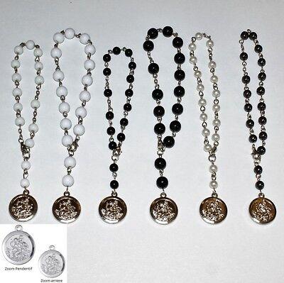 Bracelet CHAPELET CRISTIANO ROSARY BLANC perle 5 mm NEUF au CHOIX