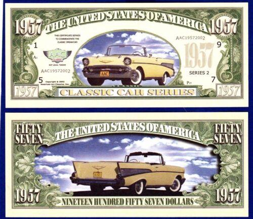 MoneyV 5-1957 Chevy convertible Dollar Bills-Novelty  Collectible-Classic Car