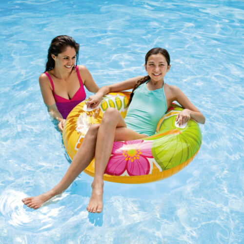 Retro Riesen Schwimmring Schwimmreifen Lounge 2 Griffe Ø 97 cm Tropical Flower