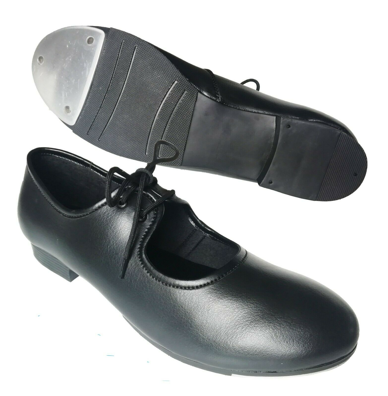 Black Tap Dance Shoes Child Size 8 up to Adults 7