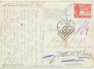 SCHWEIZ-1954-25-C-Seedamm-Melide-EF-AK-m-Edelweiss-K2-034-ZERMATT-AM-MATTERHORN-034