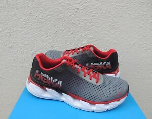 ad939c6ae9f0 Image is loading HOKA-ONE-ONE-ELEVON-BLACK-RACING-RED-RUNNING-