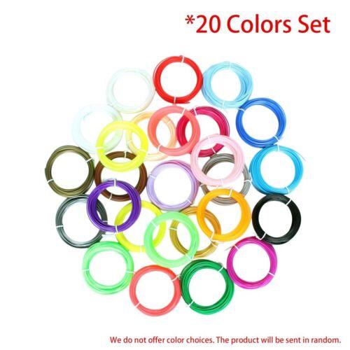 1.75mm 200m Total Packs 10m Each GW PLA 3D Printer Pen Filament 20 Colors