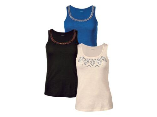 Ladies Vest Top Stylish metal application Blouse decorated XS S M L 6 10 12 14