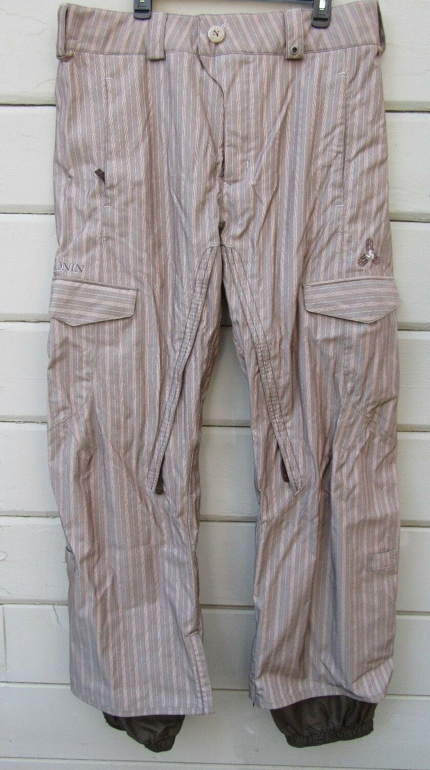 Burton Board Ronin STABLE Pant Uomo XL marrone Pinstriped Board Burton Pants EUC 8cba02