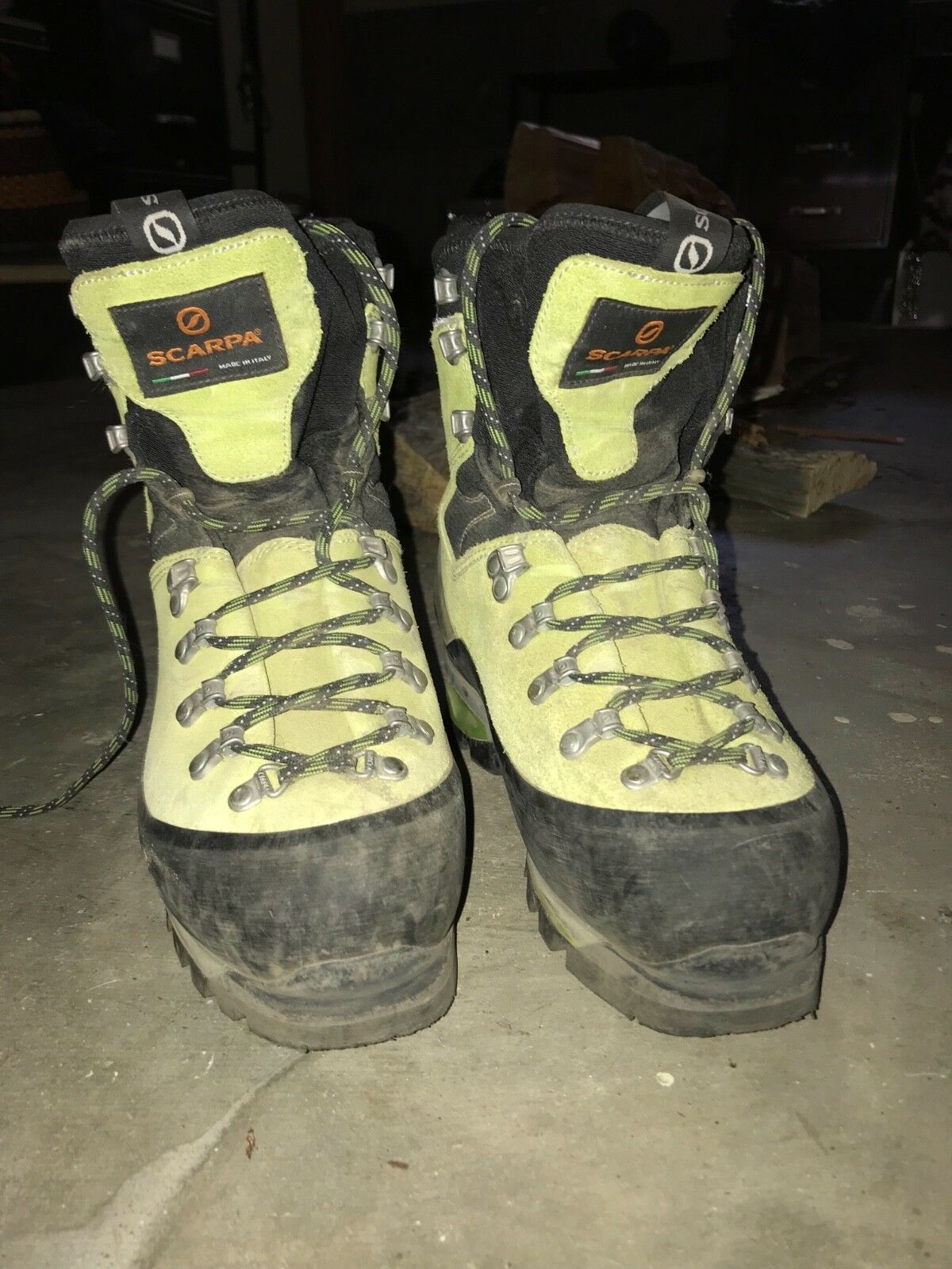 Scarpa Mont  white GTX Mountaineering Boots  free shipping!