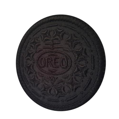 oreo cookie all black army tactical SWAT morale combat tag hook patch