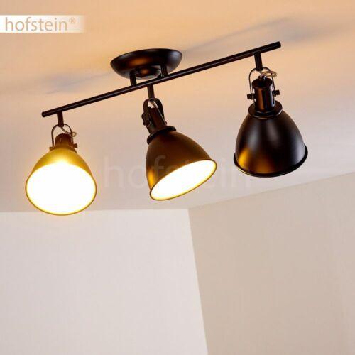 Flur Strahler schwarz-gold Decken Lampen 3-flammige Wohn Schlaf Zimmer Leuchten