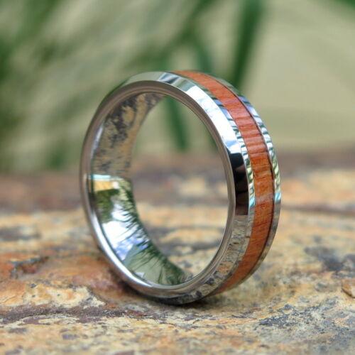 Hawaiian Hawaii Jewelry Wood Tungsten Wedding Ring Band 7mm #CRD-1003-07