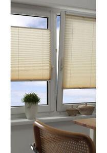 klemm easyfix plissee gardinia beidseitig verspannt elfenbein crush 40 120 cm ebay. Black Bedroom Furniture Sets. Home Design Ideas