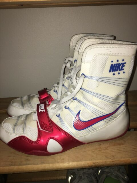Rare Nike Manny Pacquiao Hyperko MP Trainer Boxing Shoes Boots Size 10 White