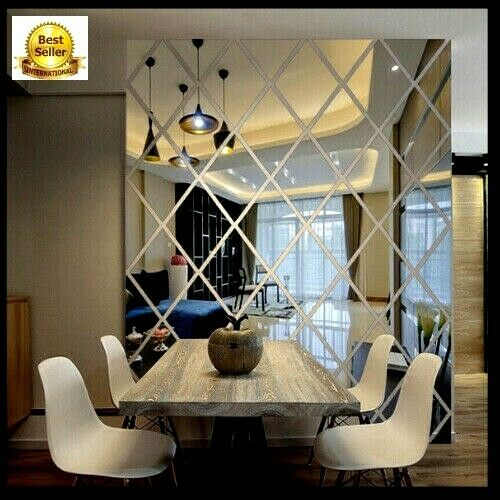 3D Circle Acrylic Mirror Removable Wall Stickers Decals Art Mural Home Decor DIY