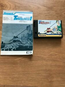 MSX-Game-Track-And-Field-1-Konami-ROM-Cartridge-RC710-Cartridge-And-Manual