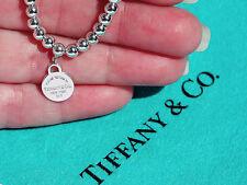 Tiffany & Co Return To Tiffany Sterling Silver Mini Round Tag Bead Bracelet
