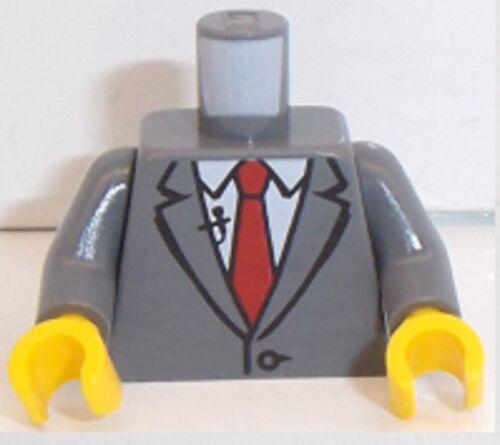 Lego Dark Stone Grey Version torse x 1 Veste /& Cravate Microphone Pattern