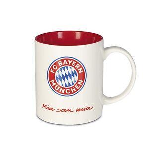 FC-BAYERN-MUNCHEN-Kaffeebecher-Mia-san-Mia-350ml-Weiss-Rot-FCB-Tasse-Kaffeetasse