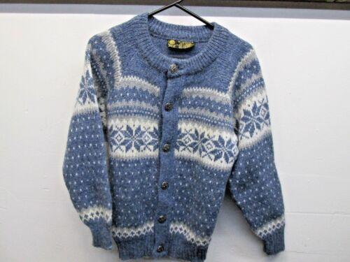 de Norlender de lana Euc 100 S rayas Cárdigan para nórdico Norway azules Made Vtg Sz hombre qSxU4wCq