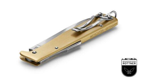 Otter Mercator Laiton avec Clip Couteau de Poche D/'Extérieur Pliant