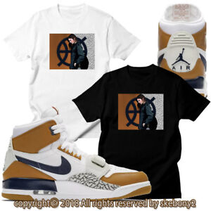 7f5b434c4f4d7 Details about CUSTOM T SHIRT MATCHING AIR JORDAN LEGACY 312 LIGHT BROWN JDL  1-1-3