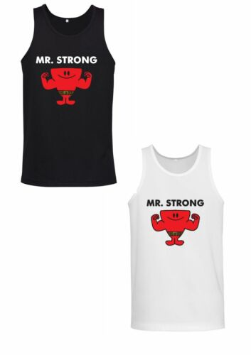 Mens Workout Singlet MR STRONG Breathable Polyester