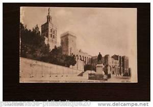Tarjeta-Postal-Antigua-Avignon-La-Catedral-Y-Castillo-De-Papas