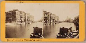 Grand-Canal-Santa-Maria-Della-Salute-Venezia-Italia-Foto-Stereo-PL55-Albumina