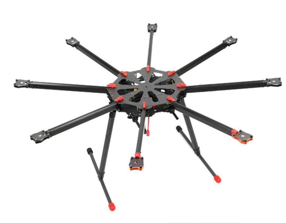 Nuevo Tarojo X8 8 aixs Umbrella Tipo Plegable Multicopter UAV octocóptero Drone