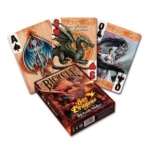 ANNE STOKES AGE of DRAGONS BICYCLE POKER PLAYING CARDS SEALED DECK Gothic Gift