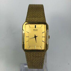 Seiko-Mens-5Y30-5B49-Gold-Stainless-Steel-Quartz-Analog-Wristwatch