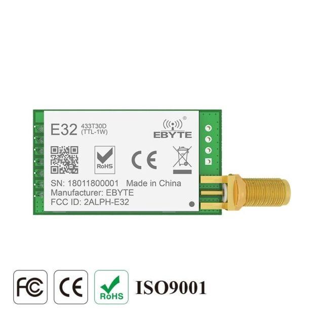 E32-433T30D Lora UART SX1278 433mhz 1W SMA Antenna IoT uhf Wireless Transceiver
