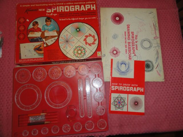 Vintage 1967 Kenner's Spirograph No. 401 Red Tray  - missing #24 Wheel