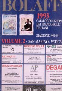 BOLAFFI-1993-catalogo-nazionale-FRANCOBOLLI-italiani-vol-2
