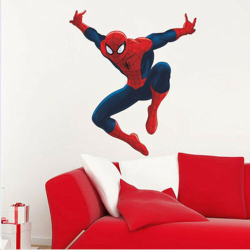SPIDERMAN SUPER HERO 3D REMOVABLE WALL STICKERS KIDS DECOR VINYL DECAL