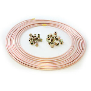 25ft-Brake-Copper-Pipe-Tube-3-16-OD-10-short-male-nut-10-female-nut