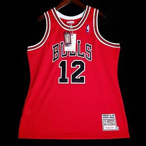 qqbwad 100% Authentic Michael Jordan Mitchell Ness #12 Valentines Day
