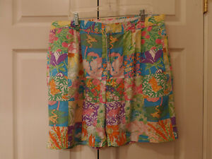 Vintage-Men-Lilly-Pulitzer-Garden-Patch-Patchwork-Print-Bermuda-Shorts-Size-40