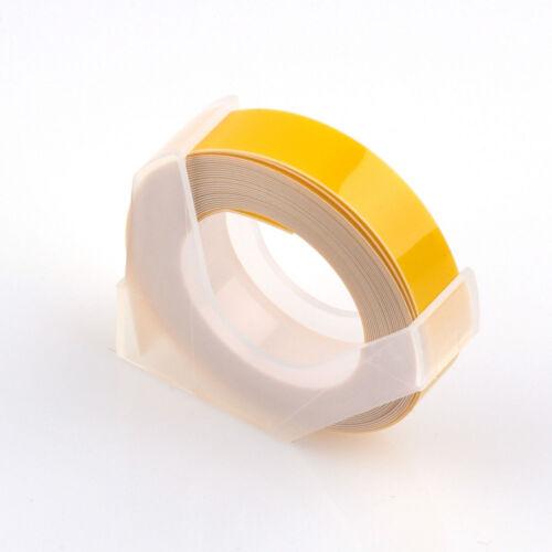 Mehrfarbig Beschriftungsband Band 9mm X 3Meters Für MOTEX Dymo 12813 12814 1610