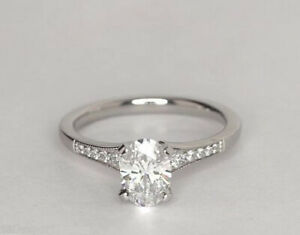 1-5CT-Halo-Ring-Solitaire-Round-Cut-Diamond-Engagement-14K-White-Gold
