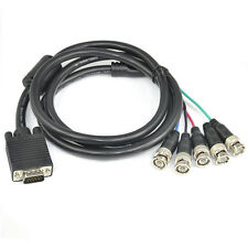 CAVO ADATTATORE MONITOR VGA HD15 D-SUB BNC PC HDTV 4 METRI RGB