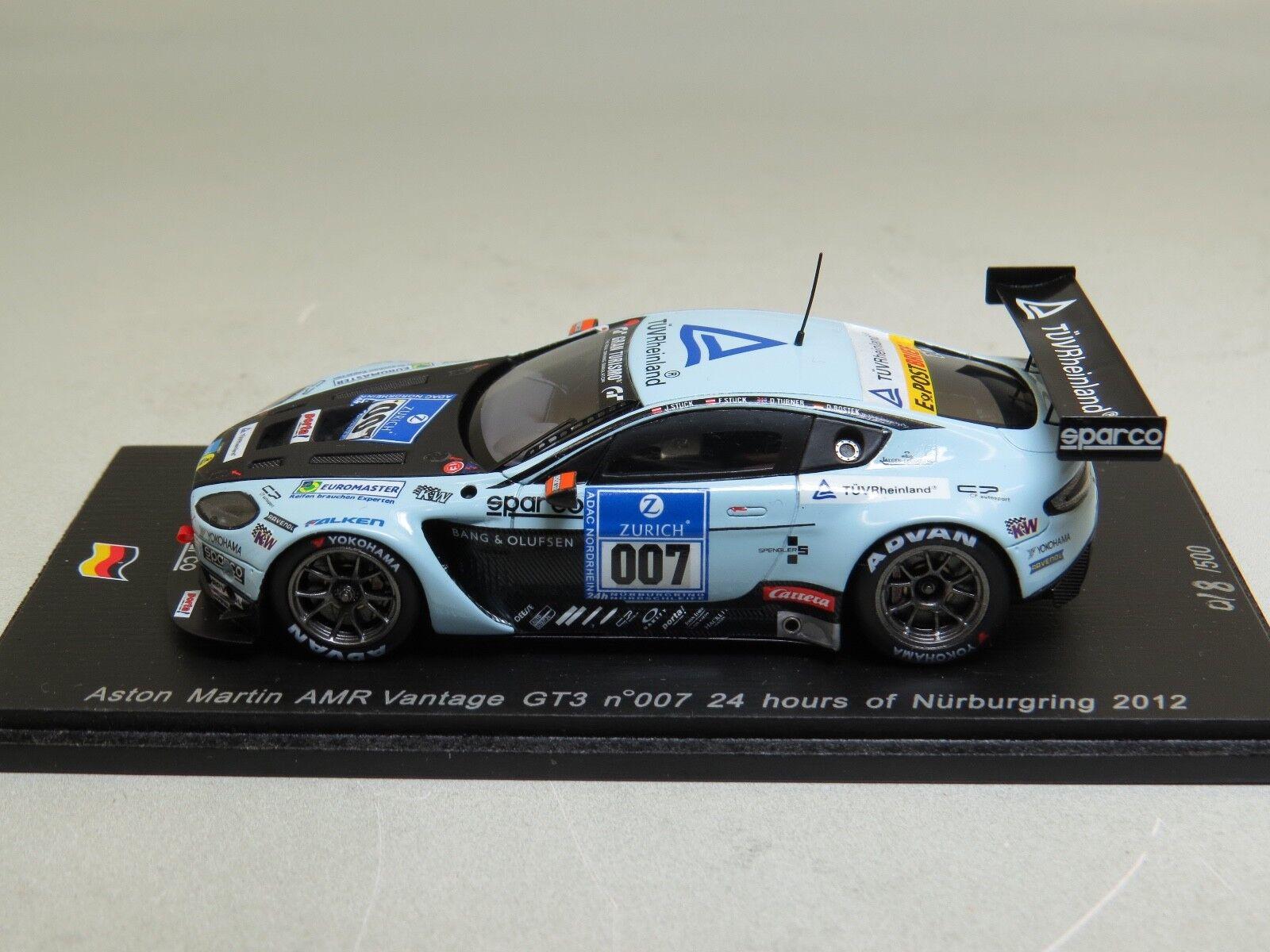 Aston Martin AMR Vantage GT3 nº007 24 Hours of Nürnburgring 2012 Spark SG062
